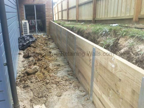 Torquay Treated Pine Sleeper Retaining Wall Melbourne