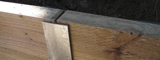 Metal Post Retaining Wall Plank : Fairhaven wooden sleeper retaining wall « melbourne